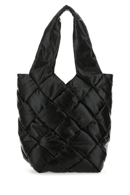 Black leather Cassette handbag