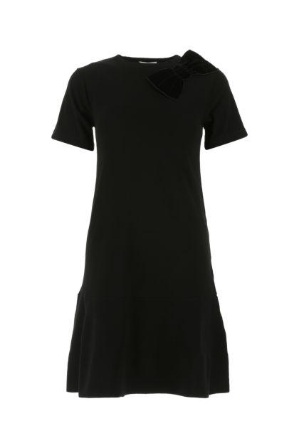 Black viscose blend t-shirt dress