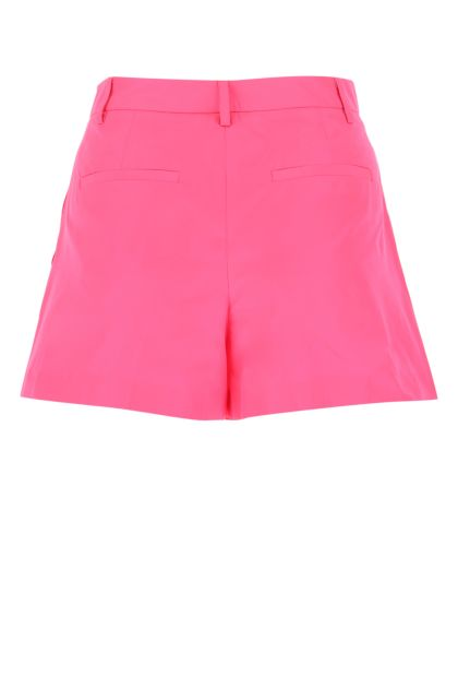 Fluo pink polyester shorts