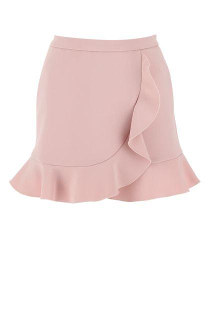 Powder pink stretch polyester skirt pant