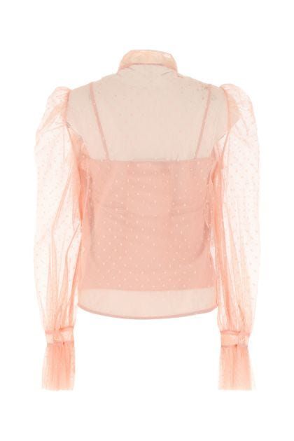 Pink tulle blouse