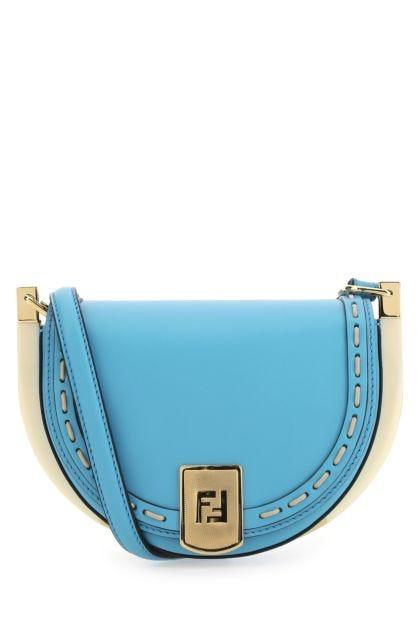 Light blue leather Moonlight crossbody bag
