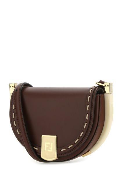 Brown leather Moonlight crossbody bag