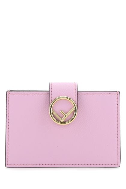 Lilac leather card holder
