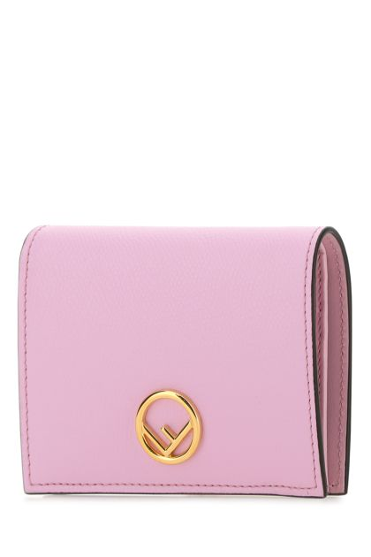 Pink leather Bifold wallet