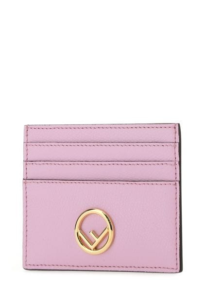 Pink leather card holder
