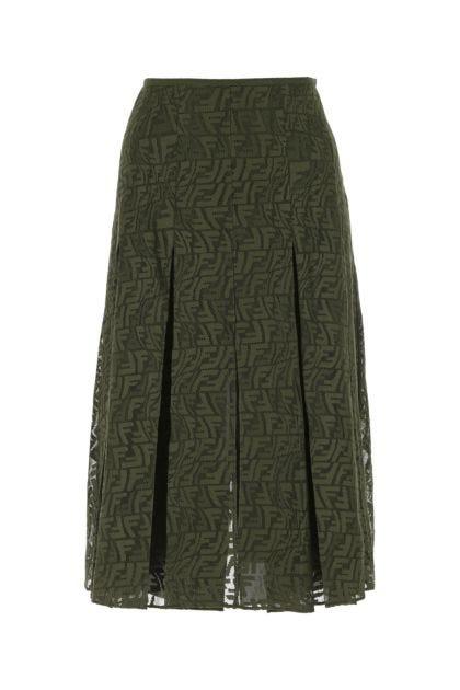 Army green mesh skirt