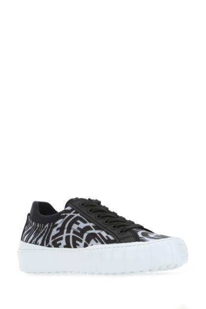 Printed fabric Fendi Force sneakers