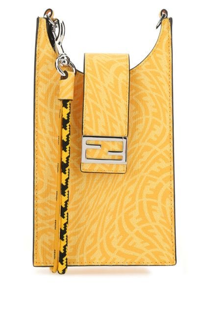 Yellow canvas FF Vertigo phone bag