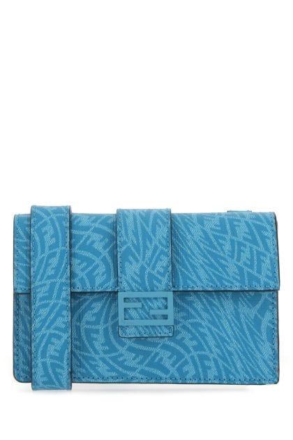 Printed canvas small Baguette belt bag