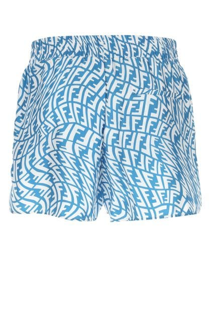 Printed silk bermuda shorts