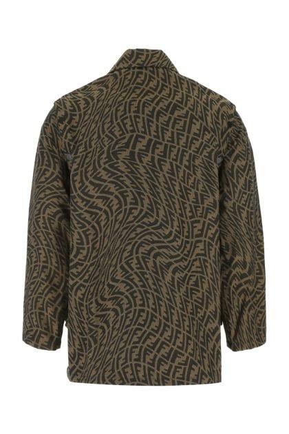 Embroidered polyester blend jacket