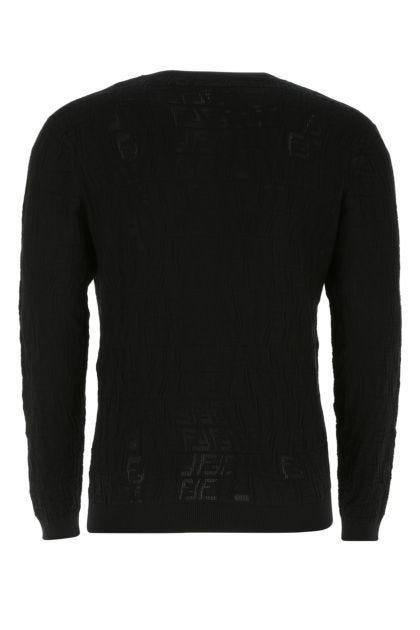 Black viscose blend sweater