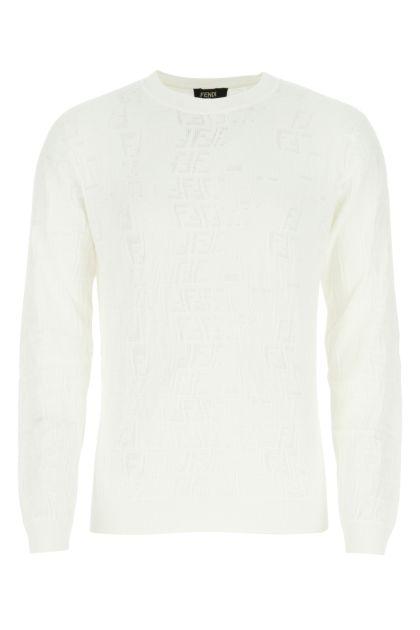 Ivory viscose blend sweater
