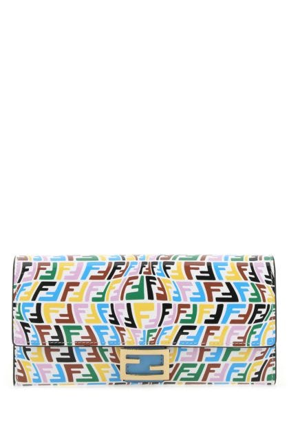 Printed leather Continental FF wallet