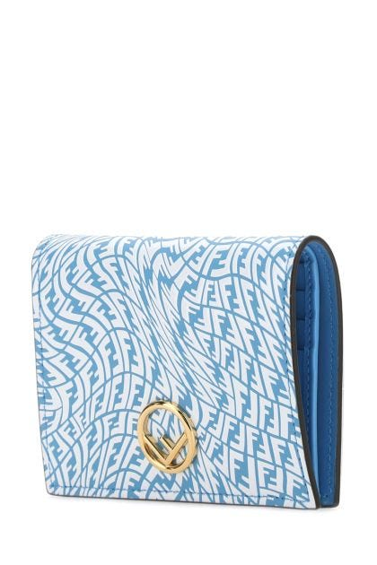 Printed leather Liberty FF wallet