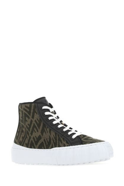 Embroidered fabric Fendi Force sneakers