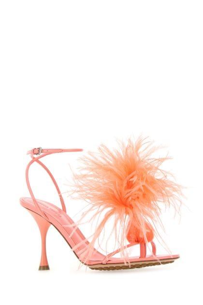 Pink nappa leather Dot thong sandals