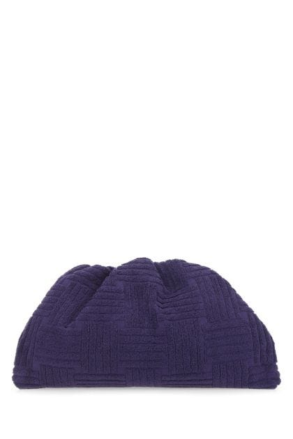 Purple terry Pouch clutch