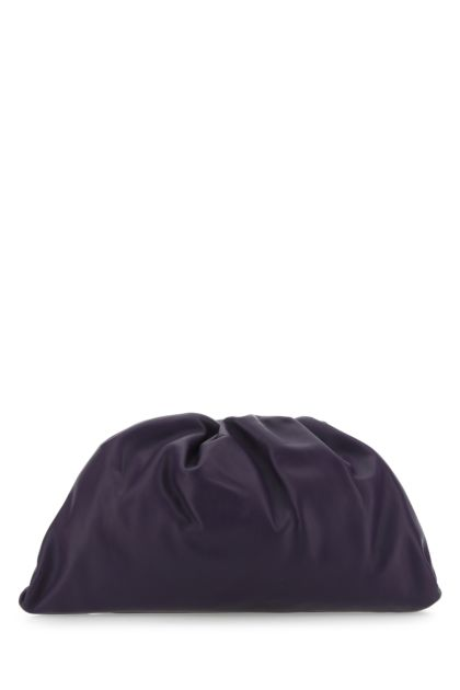 Purple leather Pouch clutch
