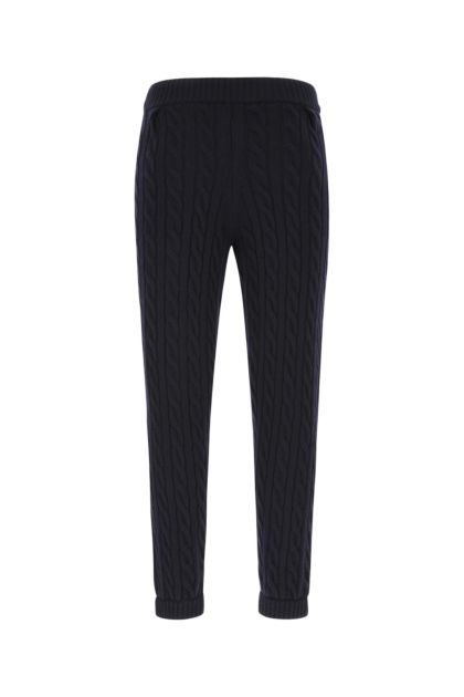 Navy blue wool pant
