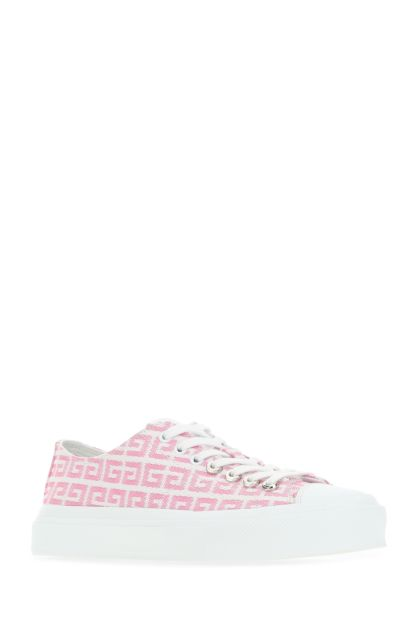 Embroidered canvas City sneakers