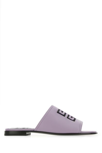 Lilac nappa leather 4G slippers