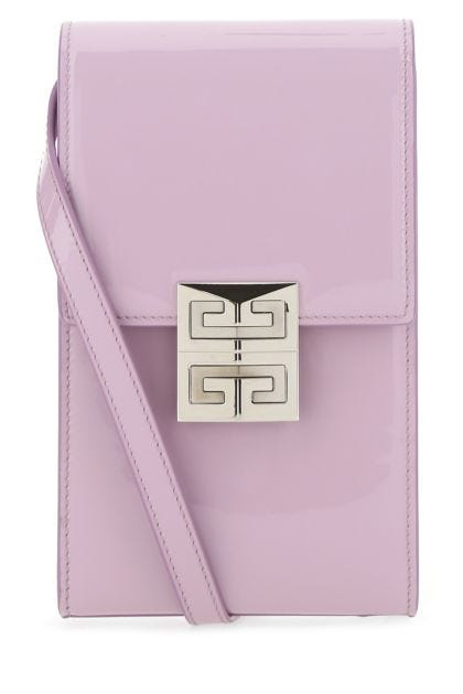 Lilac leather mini 4G Vertical crossbody bag