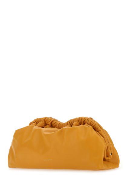 Orange leather Cloud clutch