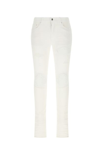 White stretch denim jeans