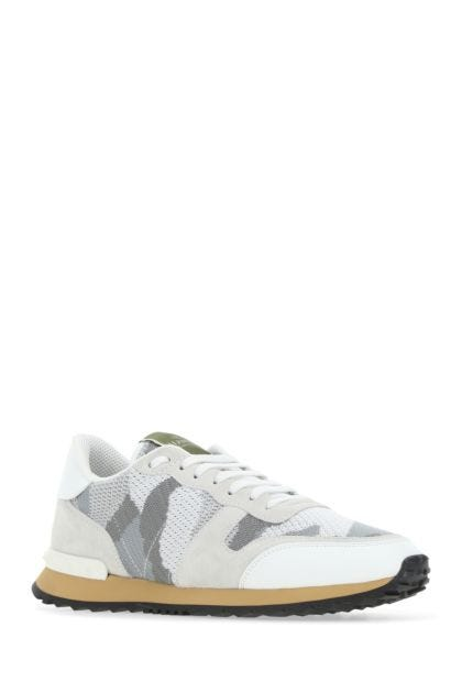 Multicolor leather and fabric Rockrunner Camouflage sneakers