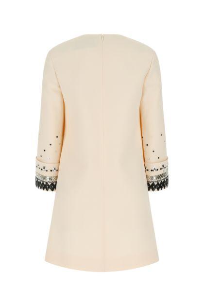 Ivory wool blend dress