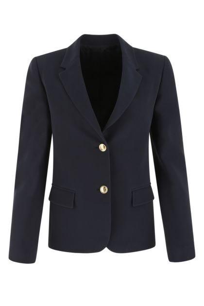 Navy bue silk blazer