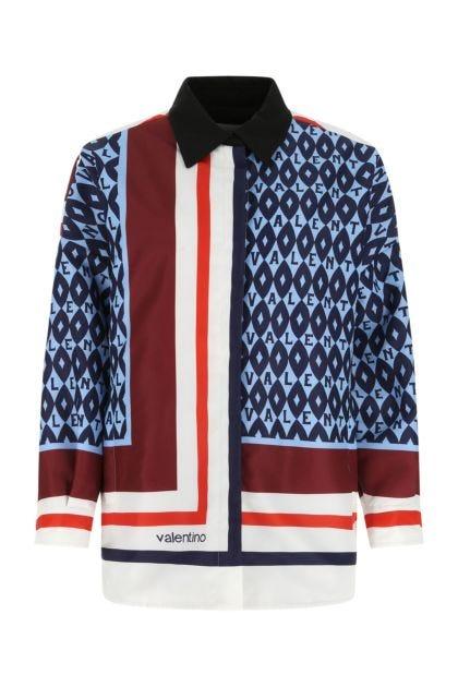 Printed nylon padded jacket