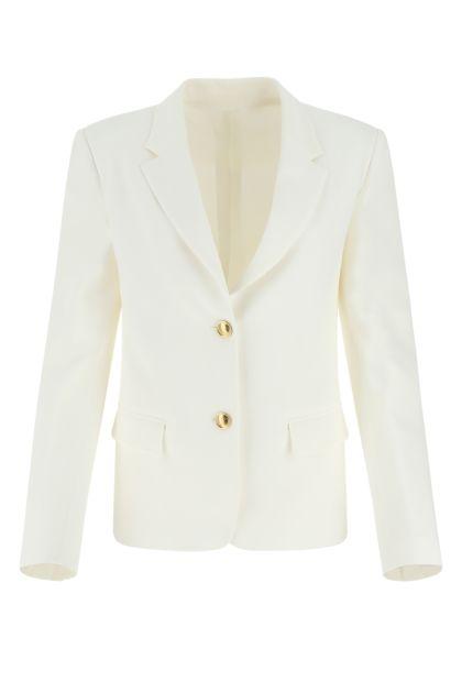 White silk blazer