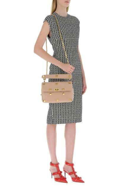 Powder pink nappa leather large Roman Stud handbag