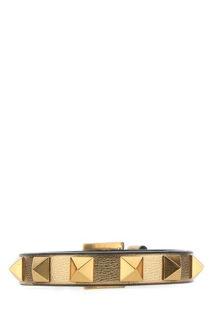 Bronze leather Rockstud bracelet