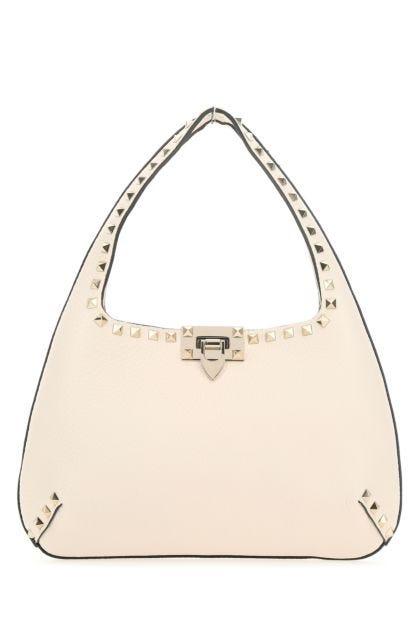 Ivory leather small Rockstud shoulder bag