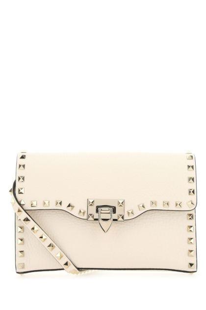 Ivory leather Rockstud Spike crossbody bag