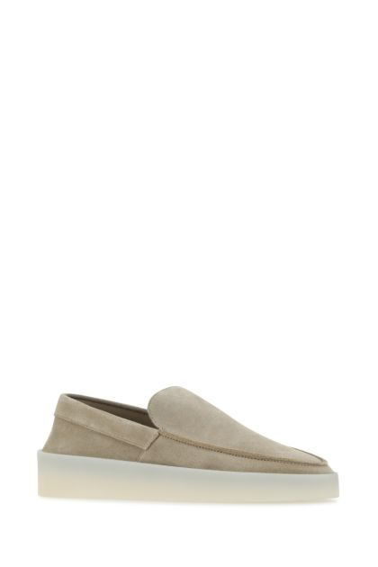 Cappuccino leather slip ons