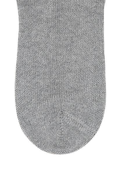 Melange grey cotton blend socks