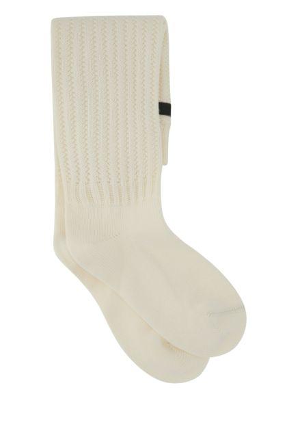 Ivory cotton blend socks