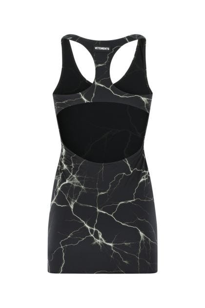 Printed stretch nylon mini dress