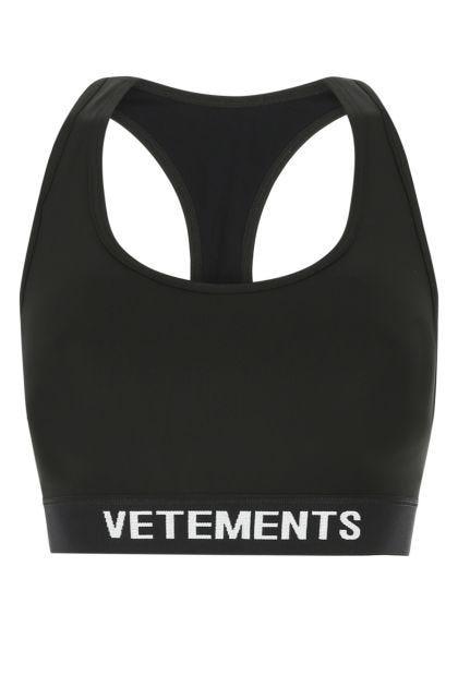 Black stretch nylon top