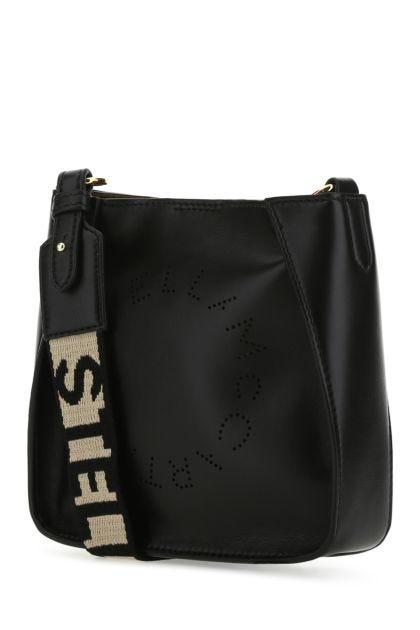 Black alter nappa mini Stella Logo crossbody bag