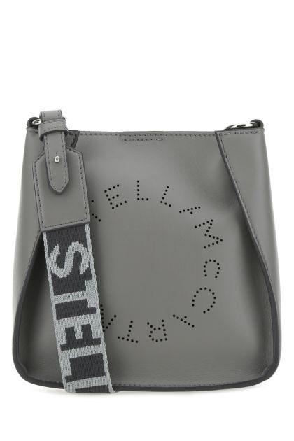 Grey alter nappa mini Stella Logo crossbody bag