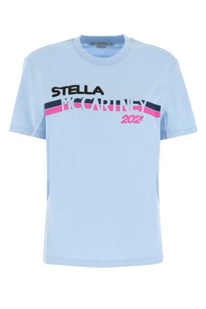 Light-blue cotton t-shirt