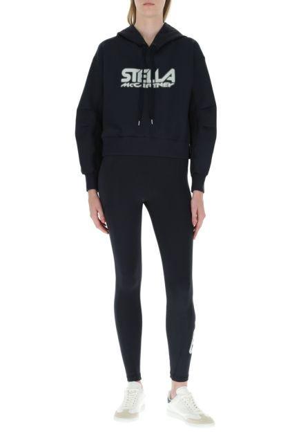 Midnight blue stretch nylon leggings