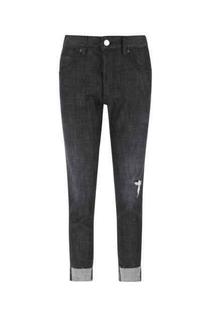 Dark grey stretch denim Dan jeans