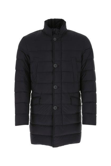 Charcoal nylon down jacket